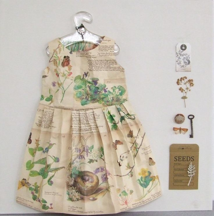 Paper Dress | Made By Hand Online - Jennifer Collier, Love the Garden theme!