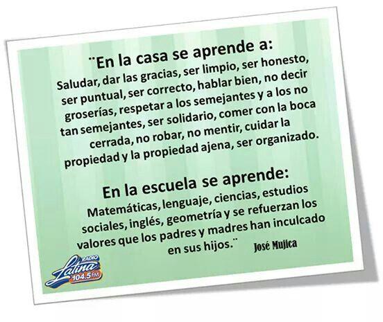 Funcion de la familia. (José Mújica)  ¿Estás de acuerdo con esta frase?