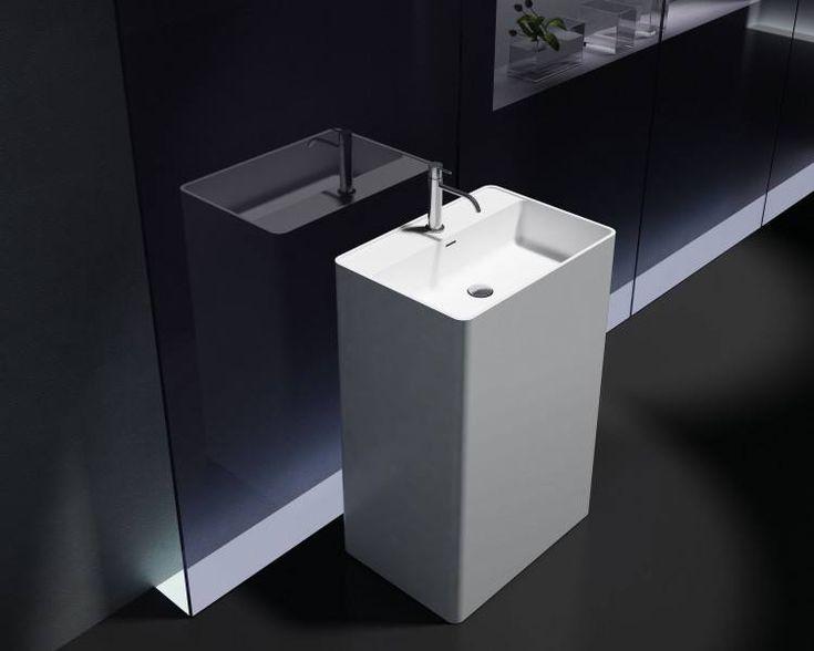 Umywalka wolnostojąca Bernstein PB2022 biała odlew mineralny 60x ...
