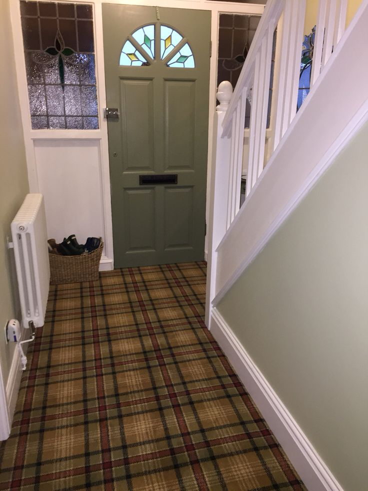 Tartan Carpet.. My New Hall Stairs And Landing.