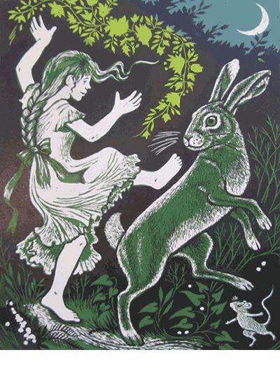 Spring Dance ~ Linocut ~ Teresa Winchester