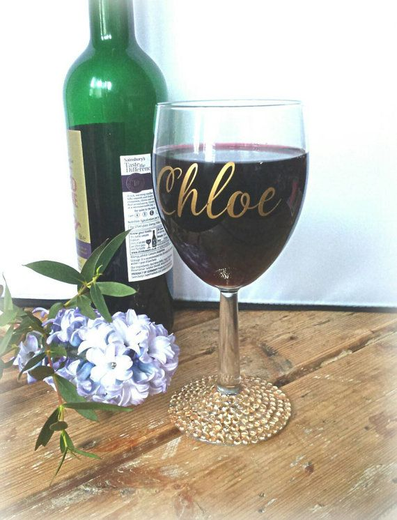 Check out this item in my Etsy shop https://www.etsy.com/uk/listing/286675777/personalised-wine-glass-bridesmaid-gift