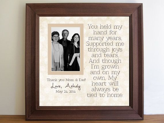 Gifts For Parents For Wedding Thank You: Graduation Custom Picture Frame For Parents