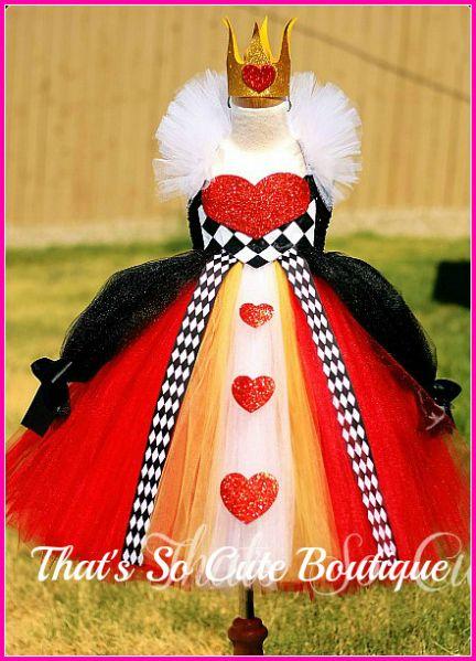 Queen of Heart Tutu Dress, Queen of Hearts Costume, Pageant wear, Alice in Wonderland Costume