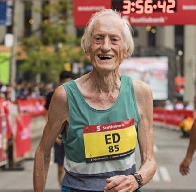 ...and there is Ed Whitlock once again smashing another world record. This time for the 85 year old age group. He beat the old mark set in 2004 by more than 30min Congratulations . . . . . Follow us use hashtag #wonderfulrunning and join the movement . . . . . . . . @longboatrr