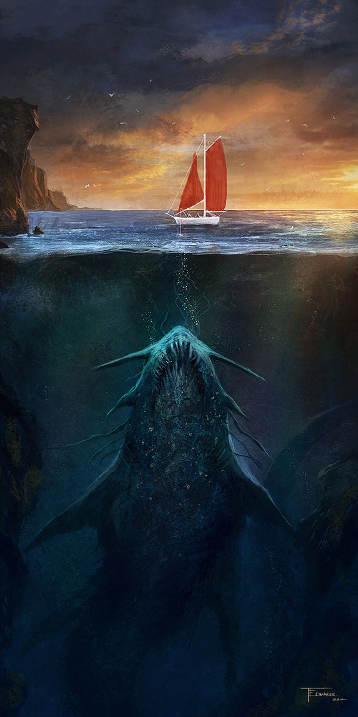 Monstruo marino por Tom Edwards
