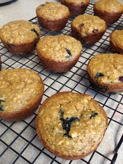 Blueberry Banana Oatmeal Muffins | The Secret Ingredient is Love (Really tasty and toddler friendly! Also great with chocolate chips!)