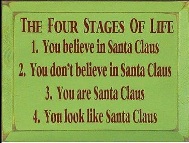 Four stages of Santa.