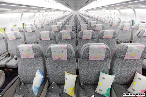 Ahora cinco aviones de Hello Kitty vuelan por los cielos