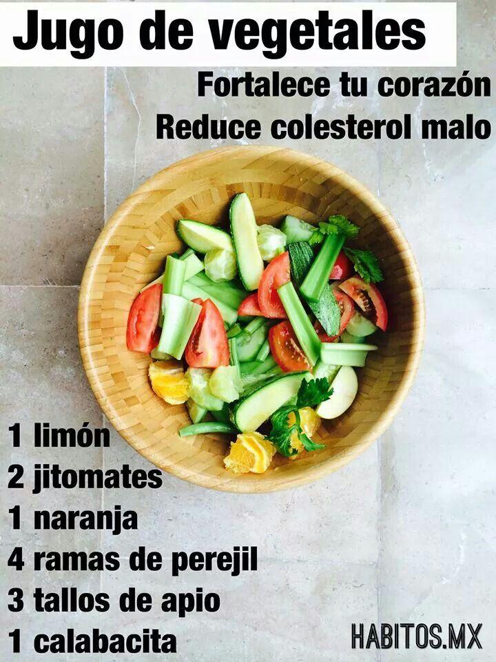 Jugo de vegetales: Fortalece el corazon y baja el