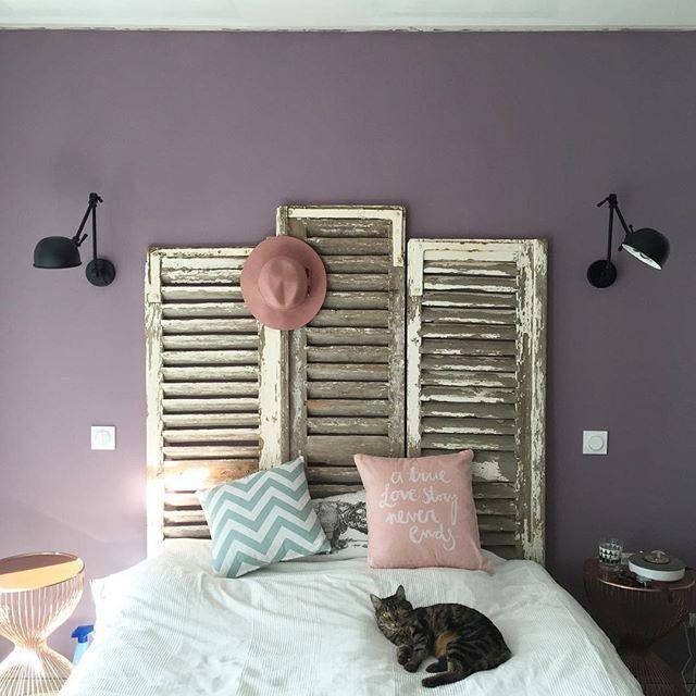 Les 25 meilleures id es de la cat gorie t te de lit violet - Relooking chambre adulte ...