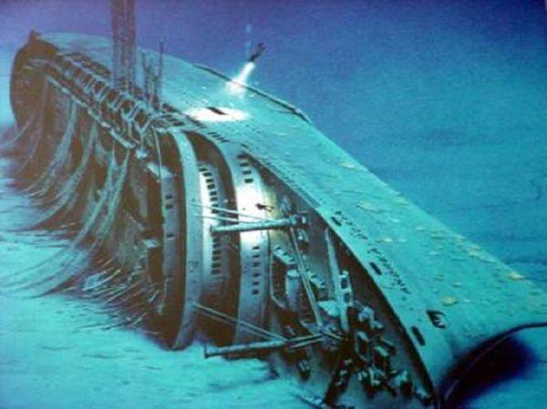 """Relitto della nave italiana """"Andrea Doria"""", Oceano Atlantico"""