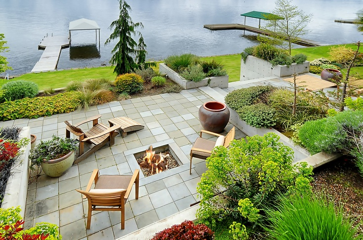 44 best Lakefront landscaping images on Pinterest ... on Lakefront Patio Ideas id=49233