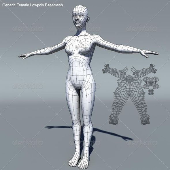 This is a generic female low poly base mesh (including eyes). Keeping the human muscle anatomy in mind I have kept the topology clean, all quads & also UV-unwrapped. It is ready for sculpting, texturing, rigging, animation etc.