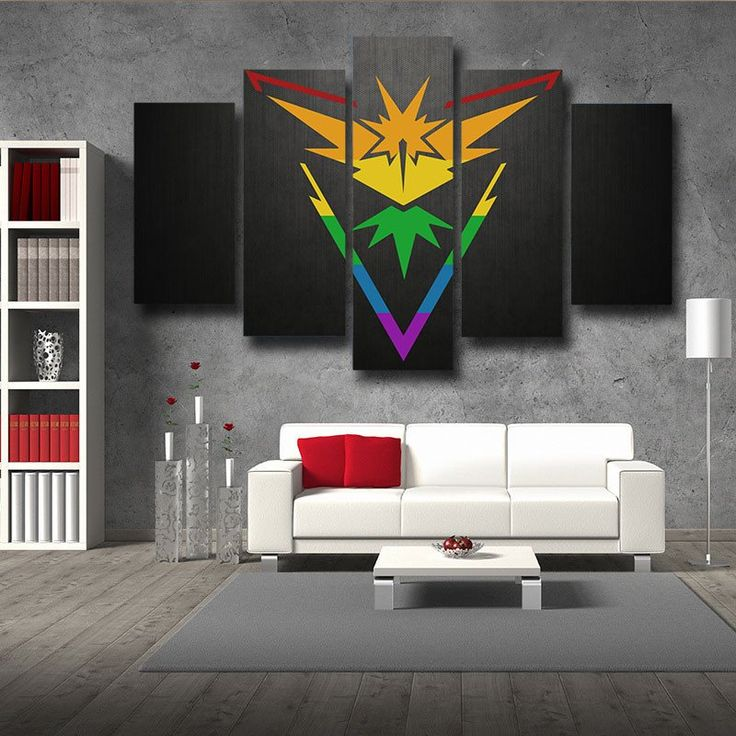 Pokemon Zapdos Rainbow Design Bird 5pc Wall Art Decor Posters Canvas Prints  #Pokemon #Zapdos #RainbowDesignBird #5pc #WallArt #Decor #Posters #Canvas #Prints
