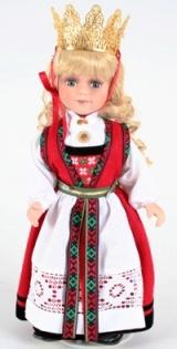 Norwegian Hardanger bride doll