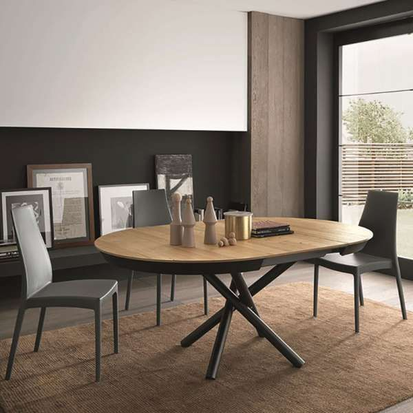 table design extensible ronde en bois