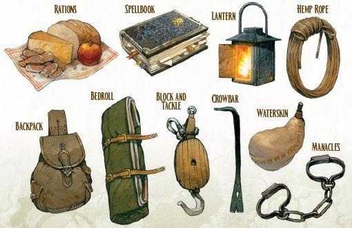 Kit básico do aventureiro. ~ Adventuring_Gear.jpg (510×331)