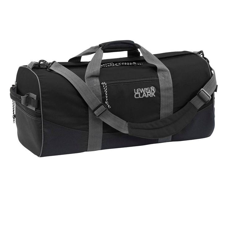Lewis N Clark Duffel Bag 12in x 24in Black