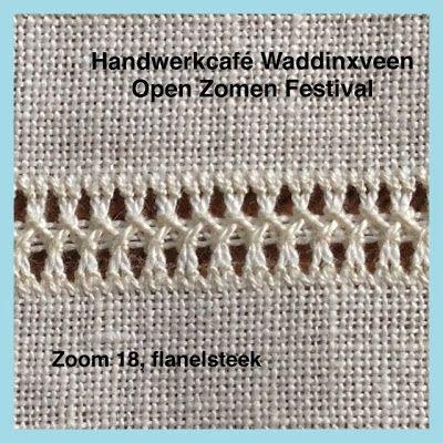 Handwerkcafé Waddinxveen: Zoom 18, Flanelsteek