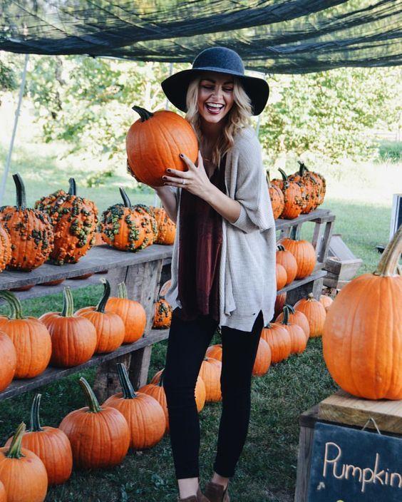 Pumpkin patch outfit.