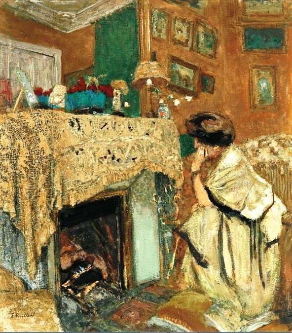douard vuillard madame hessel au coin du feu dit devant la chemin e 1917 18 edouard. Black Bedroom Furniture Sets. Home Design Ideas