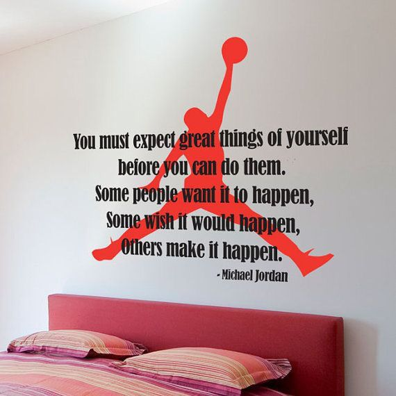 Air Jordan Silhouette Basketball Dunk Boys Room wall decal.
