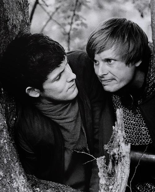 Colin Morgan as Merlin and Bradley James as Arthur Pendregon