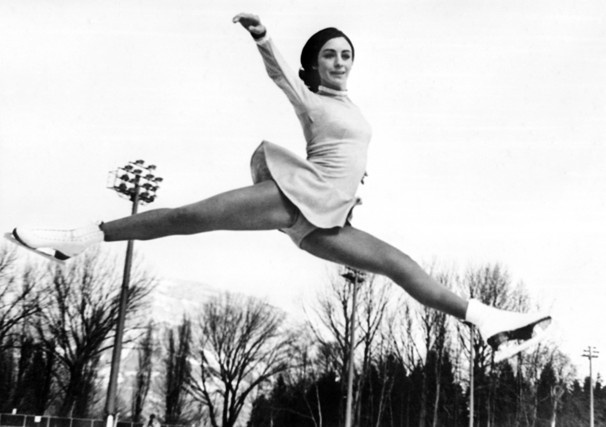 Olympic gold medalist figure skater, Peggy Fleming