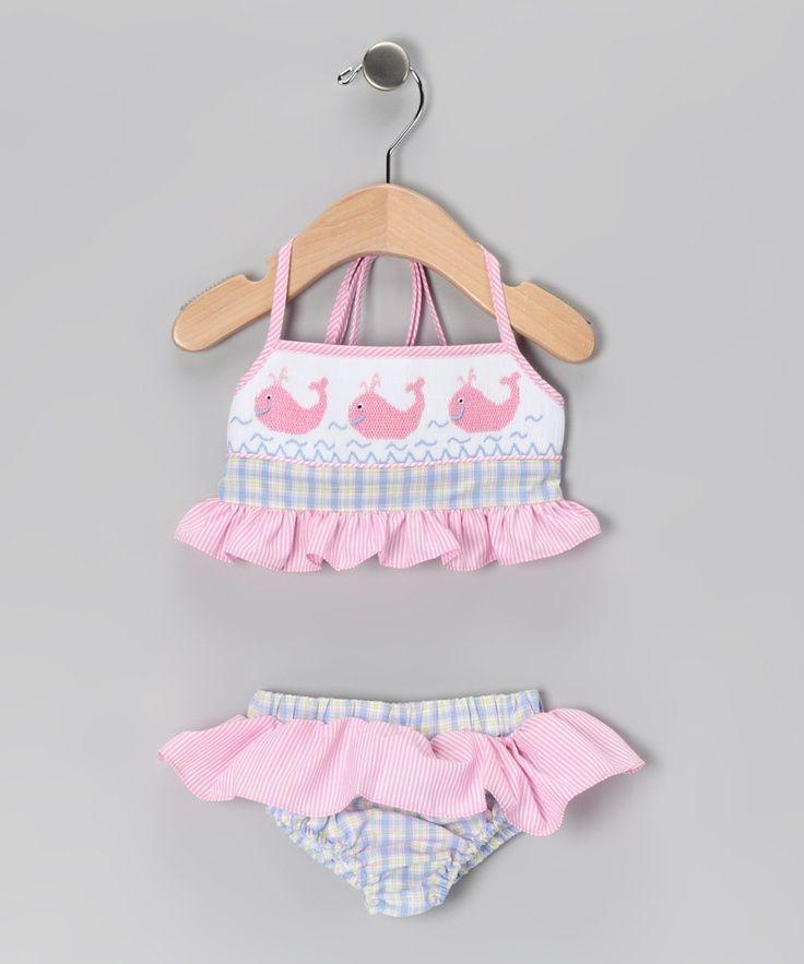 Blue & Pink Whale Bikini – Kleinkinder, Kleinkinder & Mädchen – Ideen für Babys … – C …   – Baby-Bikinis