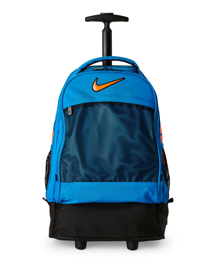 Nike Photo Blue & Orange Wheeled Backpack