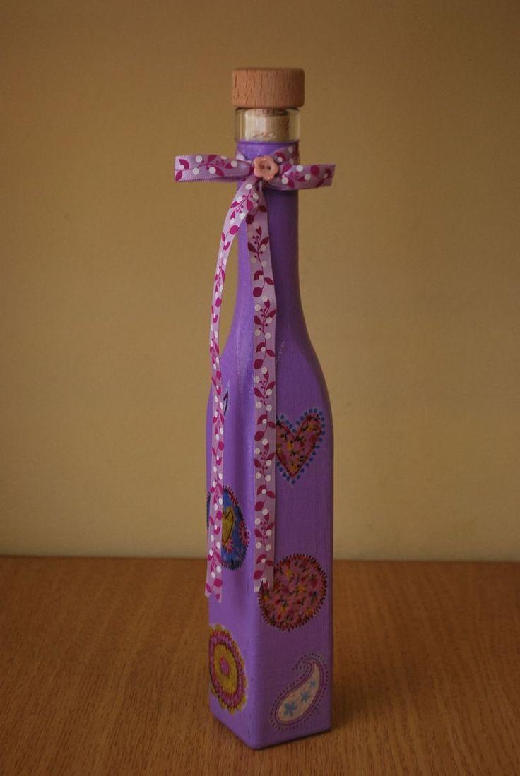 Sticla decorativa  cu panglica (15 LEI la pia792001.breslo.ro)
