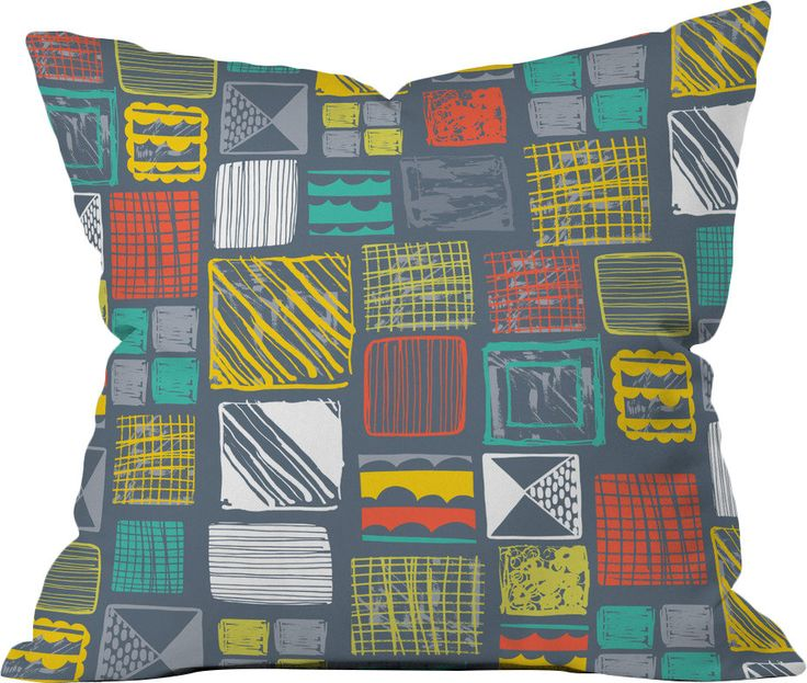 Rachael Taylor Square Metropolis Polyester Throw Pillow