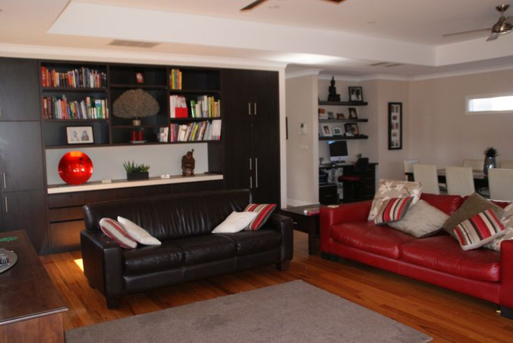 Lounge with built in cabintery
