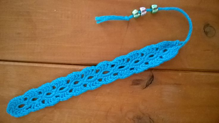 Bookmark. My first attempt at lace crochet.
