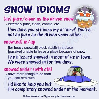 winter idioms with images to share - Google Search
