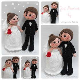 Turks: Amigurumi Free pattern Vertaling bruidspaar inmiddels op mijn blog: http://petriek.blogspot.nl/