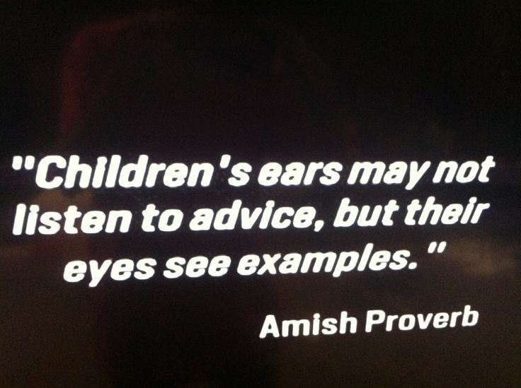 Amish proverb
