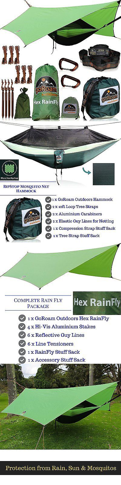 Tent and Canopy Accessories 36120: Goroam Outdoors Camping Hammock With Mosquito Net And Rainfly. Hex Rain Fly Tarp -> BUY IT NOW ONLY: $131.33 on eBay!