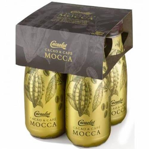 MOCCA, Cacaolat de cacao y café. 4 botellines de 200 cc.