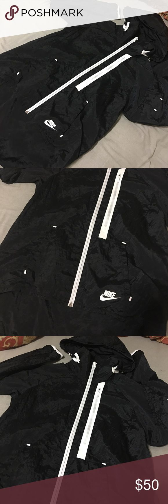 Nike Women's windbreaker zip up hoodie Worn only handful of times Nike Jackets & Coats Utility Jackets