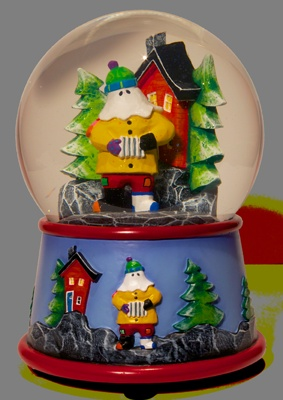 MUMMER SNOW GLOBE!!!!! Can you say awesome?!