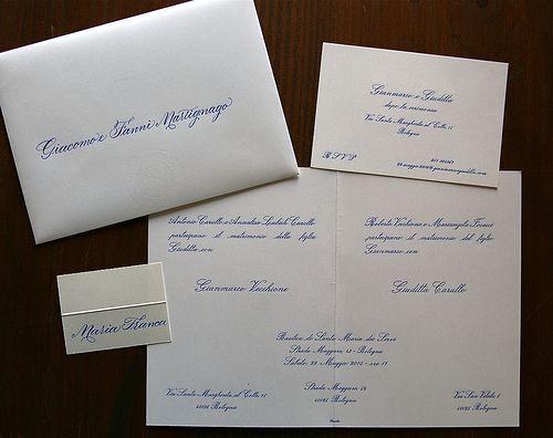 wedding invitation partecipazioni di nozze - Barbara Calzolari, calligrapher