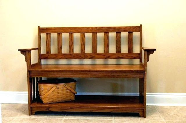 Indoor Wooden Benches Add To The Home Decor Before Your Next Family Gathering Hall Tree Storage Bench Entryway Bench Storage Diy Entryway Bench