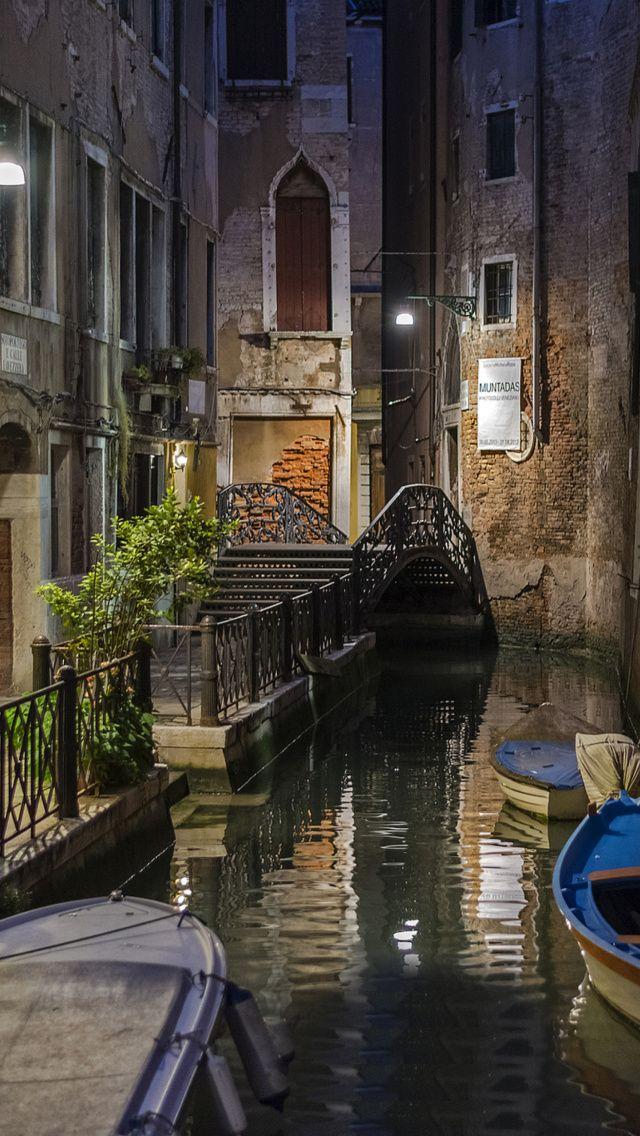 Venice Canal Fondos gratis para iPhone 5 Wallpapers