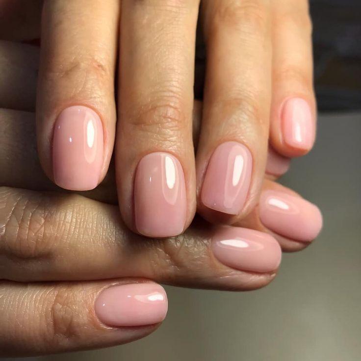 Pfirsichfarbene Nägel … #nail # pfirsichfarben – Nagelfarbe