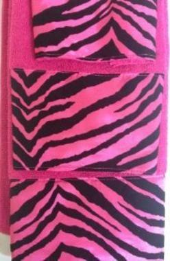 Pink Zebra Print Bathroom Towel Set Piece Bath Towel Set