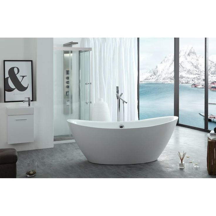 "Virtu USA Serenity 71"" Freestanding Soaking Bathtub Only"