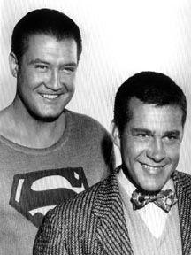 George Reeves and Jack Larson (Jimmy Olsen)