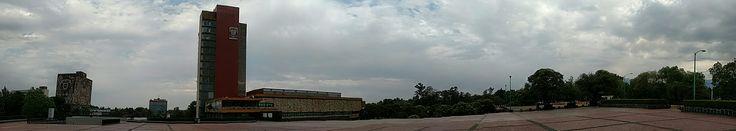 Vista panorámica de la Rectoría UNAM